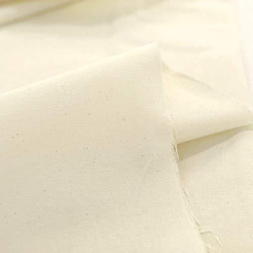 TOLKO Nessel Natur ROH-Baumwolle | 3,05 m breit | Dekostoff Gardinenstoff für preiswerten Sonnenschutz | zum Nähen Dekorieren Bemalen für Hochzeit Party Meterware Baumwollstoffe (Natur Beige)