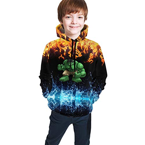 Fafalisa Hulk-Box Boy's Hoodie Jugend 3D-Druck Sweatshirts Unisex Pullover