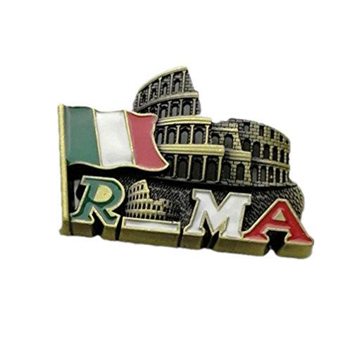 Bella Magneti per FrigoriferoCalamite da Frigo in Metallo Viaggio Souvenir Italia Torre Pendente di Pisa Colosseo Roma Bandiera Italiana Fridge Magnet Sticker