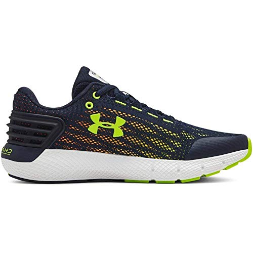 Under Armour Boys' Grade School Charged Rogue Sneaker, Academy (401)/White, 5