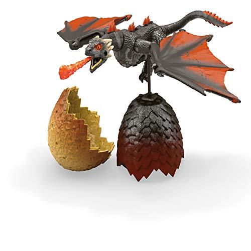 Mega Construx GMN99 - Probuilder Game of Thrones Drachenei Drogon inkl. Drache zum Zusammenbauen, wiederverschließbares Ei, originalgetreues Bauerlebnis, Bauset für Kinder und Sammler ab 16 Jahren