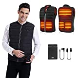 PETREL Heated Vest for Men with Battery Electric Rechargeable Heated Coat