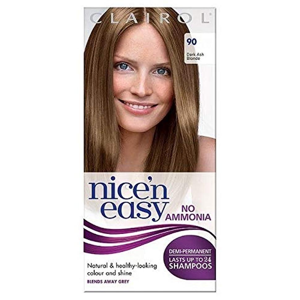 セミナー博物館エンドウ[Nice'n Easy] Nice'N簡単に無アンモニア毛染め暗い灰ブロンド90 - Nice'n Easy No Ammonia Hair Dye Dark Ash Blonde 90 [並行輸入品]