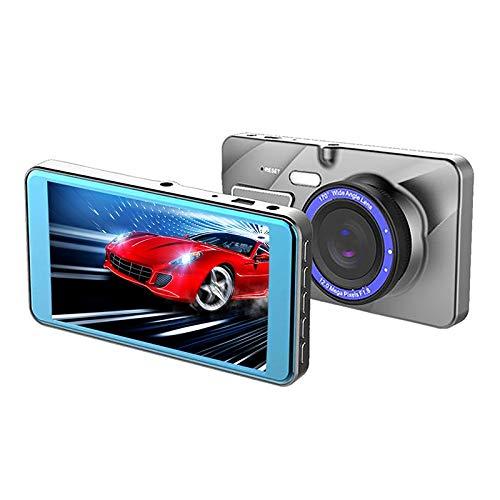 Xyamzhnn Coche de doble lente de vídeo X96 4 pulgadas 2.5D Full HD 1080P Multi-función Smart cámara es compatible con la tarjeta de TF/detección de movimiento