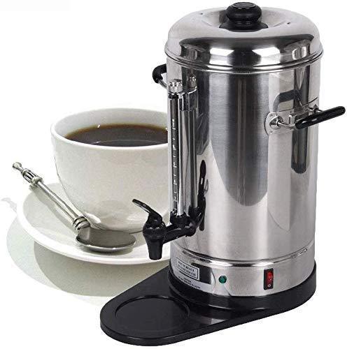Busirsiz Máquina de café, de Acero Inoxidable Cafetera automática, Filtro de café Express de la máquina, por Goteo Cafetera / 6L