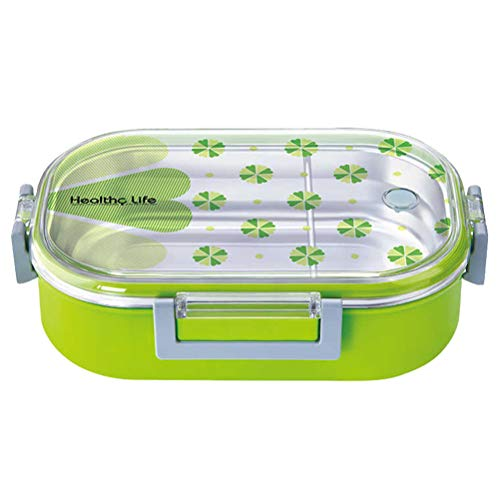 980ML Stainless Steel Leakproof Lunch Box Rectangle Insulated Bento Box Food Container for Adults Kids (Random Color) Best Partner For Lunch