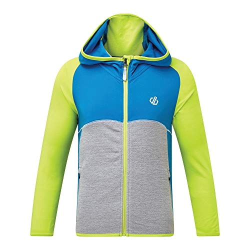 Dare 2b Kinder Hasty Core Stretch Lightweight Warm Backed Quick Drying Full Zip Jacket Dehnbare Mittelschicht, LimeP/Methyl, 11-12