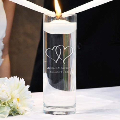 A surprise price is realized Personalized Regular discount Glass Unity Floating Candle Vase