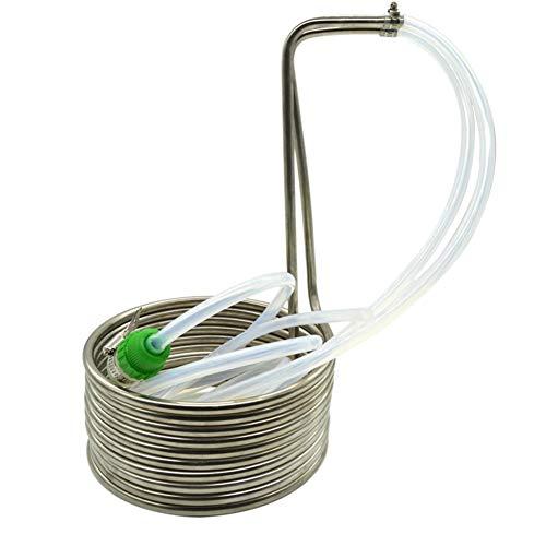 Wasserkühlung Spirale, Eintauchkühler, Schnellkühlung von Biermaische, Edelstahl-Gegenstrom-Wort Chiller, 10 Kühl Loops (Size : with Accessories)