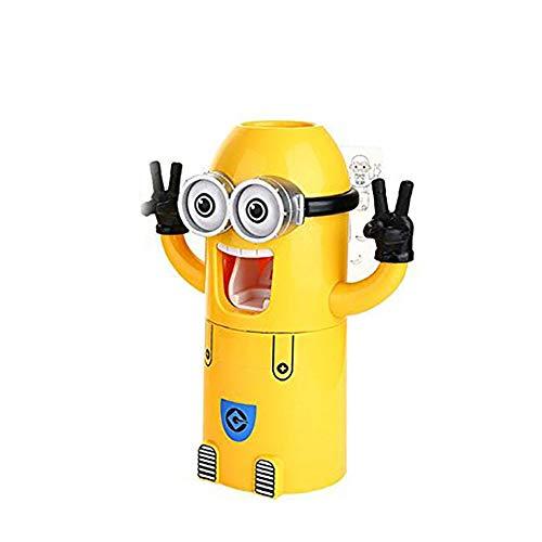 Ndier Nette Minions Entwurf Waschset Zahnbürstenhalter automatische Zahnpastaspender mit Pinsel Cup Gelb |One Eye Home dekor