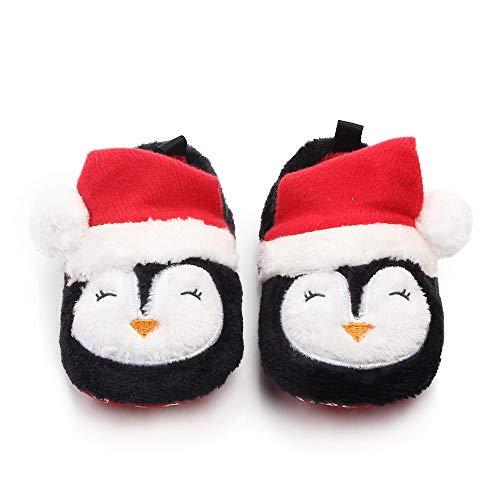 WangsCanis Weihnachtsschuhe für Neugeborene, Unisex, Schuhe für erste Schritte, für Kinder, Weihnachtsgeschenk 9-11 Monate