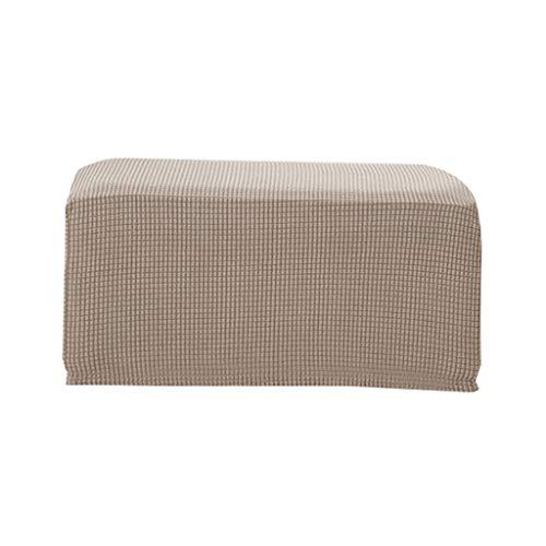 Quadratisch Stretch Hockerbezug Stuhlbezug Stuhlhusse Bezug Husse für Stuhl Hocker - Sand Farbe
