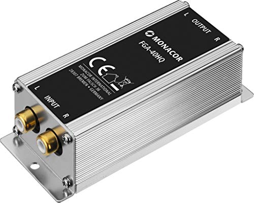Monacor FGA-40HQ high-end massa-scheidingsfilter, mantelstroomfilter met stereo line-aansluitingen