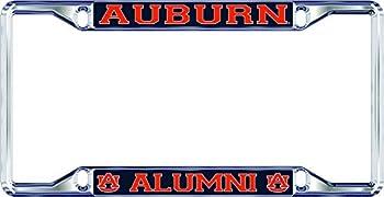 Elite Fan Shop Auburn Tigers License Plate Frame Alumni - Silver