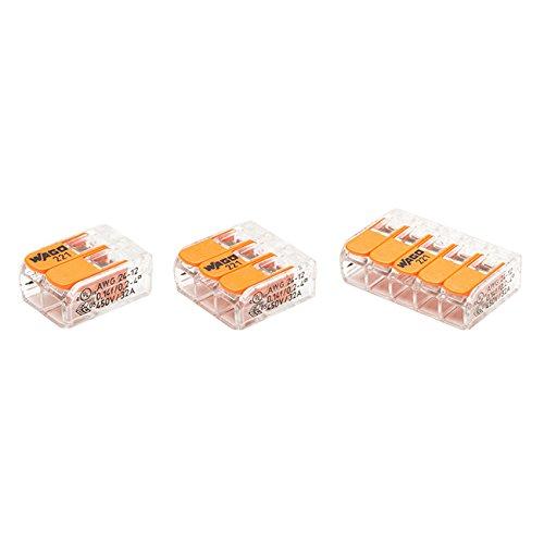 WAGO - Blister panaché de 20 bornes de connexion automatique 2,3 et 5 entrées S221
