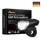 Malker LED Fahrradbeleuchtung Fahrradlicht USB StVZO Zugelassen Frontlicht Wasserdicht