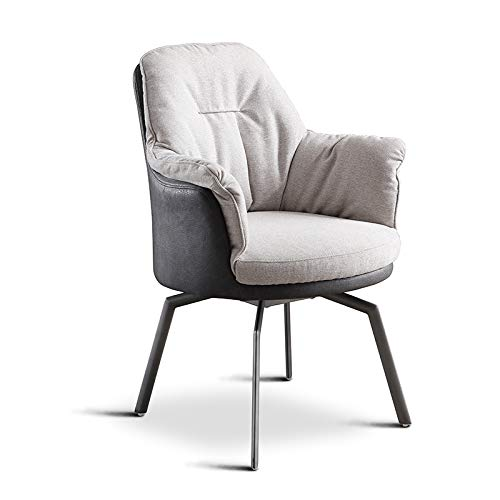 Modern home office desk Chair Breathable Cotton Chair Cushion Upholstered Seat Vanity Makeup Side Chairs Carbon steel Legs for Living Room Bedroom