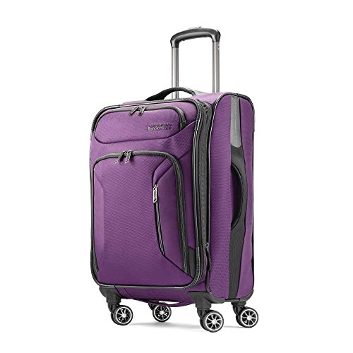 American Tourister Zoom Softside Luggage, Purple, Carry-On