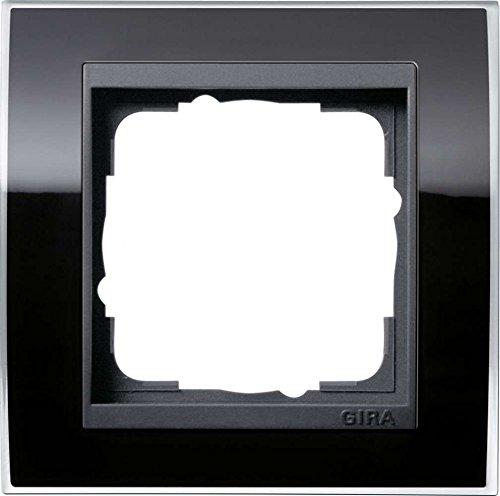 Gira 0211738 Abdeckrahmen 1-fach für anthrazit Event klar, schwarz