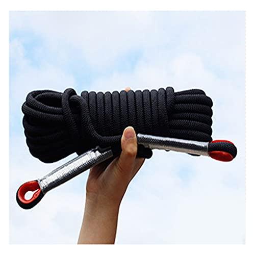 QHY Cuerda De Escalada 12mm Al Aire Libre Y En Interiore Perfessional Rappelling Auxiliar para Camping Exterior Senderismo Accesorios Deportes (Color : Black, Size : 15m*12mm)