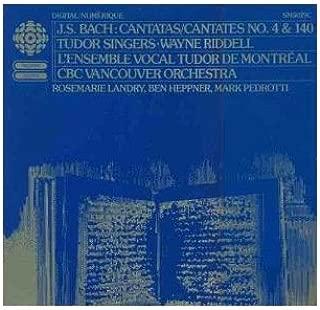 Bach Cantatas- Vinyl LP L.Ens Tudor De Montreal; CBC Vancouver Orch,Tudor Singers, Wayne Riddell