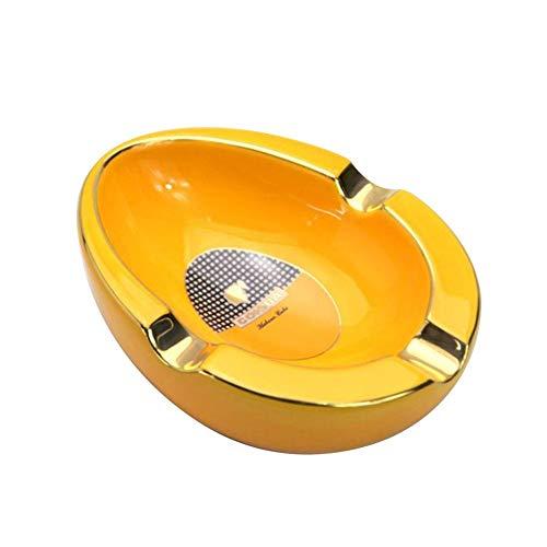 Asbak Exquise vakmanschap decoratief geschenk thuis decoratie geschikt voor tafels rekken werkbladen geel