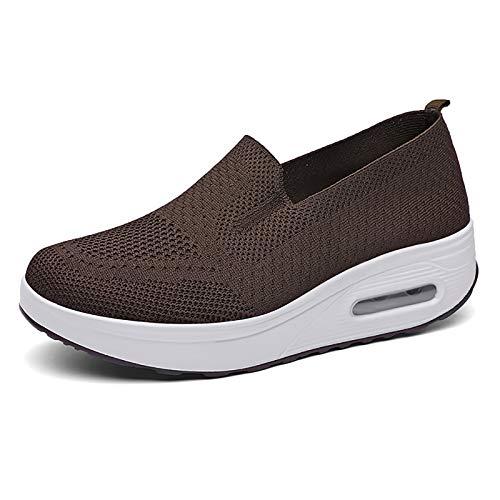 DADM X-3, moda tendencias clásico moda al aire libre casual batido zapatos para las mujeres, color Marrón, talla 39 EU