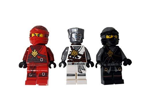 LEGO Ninjago - Juego de 3 figuras de Cole, Kai y Zane (día de los recuerdos), en caja de regalo