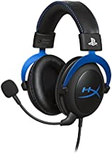 HyperX Cloud - Official PlayStation Licensed Gaming Headset for PS4 and PS5 with In-Line Audio Control, Detachable Noise Cancelling Microphone, Comfortable Memory Foam - Black