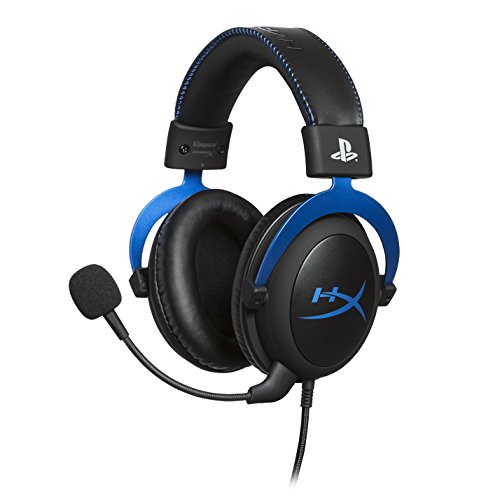 HyperX Cloud - Official Playstation Licensed Gaming Headset for PS4 with in-Line Audio Control, Detachable Noise Cancelling Microphone, Comfortable Memory Foam - Black