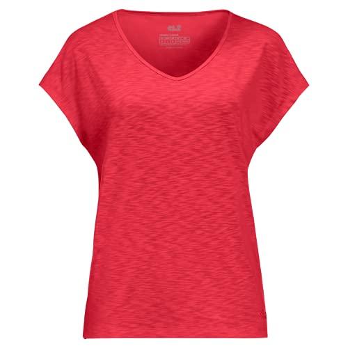 Jack Wolfskin Travel T-Shirt Tulip red Xs