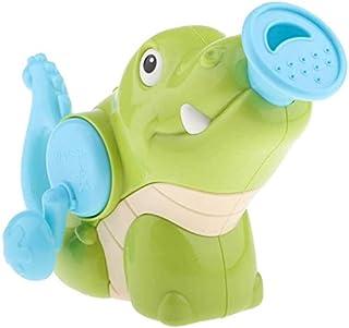 Zpong Baby Cartoonbaby Crocodile Bath Toy Handheld Sprinkler Watering Can for Kids Toddlers Bathing Swimming Water Sprayin...