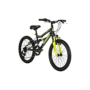 Mountain Bikes Barracuda Kids' Draco Ds Wheel Full Suspension Mountain Bike, Black, 20