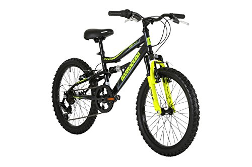 Barracuda Kids' Draco Ds Wheel Full Suspension Mountain Bike, Black, 20