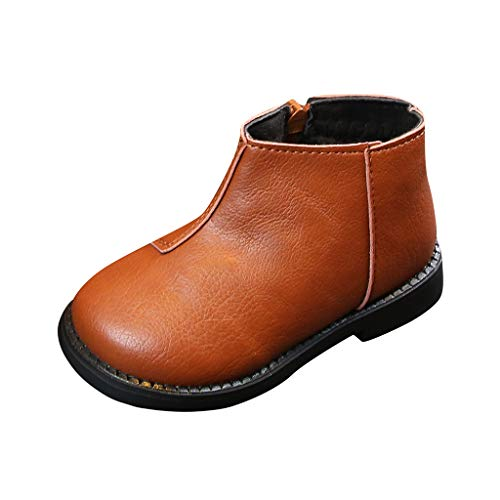 WEXCV Kinder Boots Einfarbig Stiefel Herbst Winter für Baby Mädchen Stiefeletten Warme Kinderschuhe Outdoor Herbst Winter Kleinkinder Schuhe Lauflernschuhe