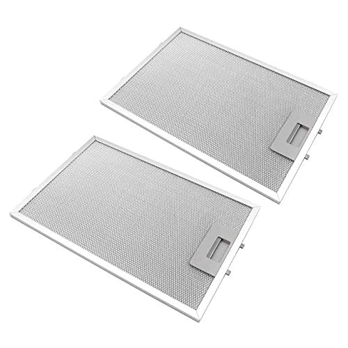 vhbw 2x filtro metálicos de grasa compatible con Siemens LC85950(00), LC85950GB/01, LC85950GB(00), LC94950/01 campana extractora, metal