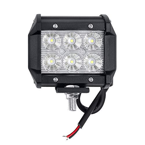 LARS360 4 Stück 18W Cree LED Arbeitsscheinwerfer Strahler 12V 24V Weiß Reflektor Scheinwerfer Traktor Zusatzscheinwerfer Rückfahrscheinwerfer Worklight für Offroad KFZ SUV LKW Auto Wasserdicht IP67