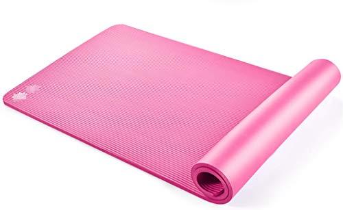 Happy Time Stuoia di Yoga, stuoia di Gomma Antiscivolo dello Sport Opaco, Pacchetto della Cinghia Tre-Parte del Vestito, 185x80cm x10mm,b
