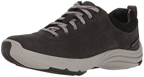Clarks Women's Wave Andes Walking Shoe, Black Nubuck, 8 M US