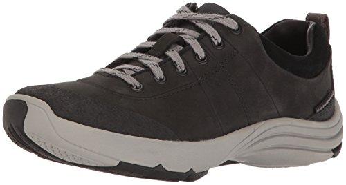 Clarks Women's Wave Andes Walking Shoe, Black Nubuck, 11 M US