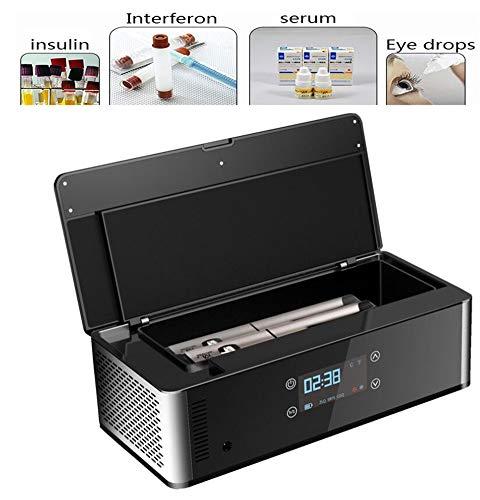 JL Mini Auto Drug Cooler Insulin 2-25 ° C halten Konstante Temperatur Insulin Kühlschrank für Travel Car Medicine Kühlschrank