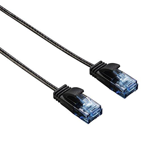Netzwerkkabel CAT-6 Slim-Flexible Schwarz 1,50 m
