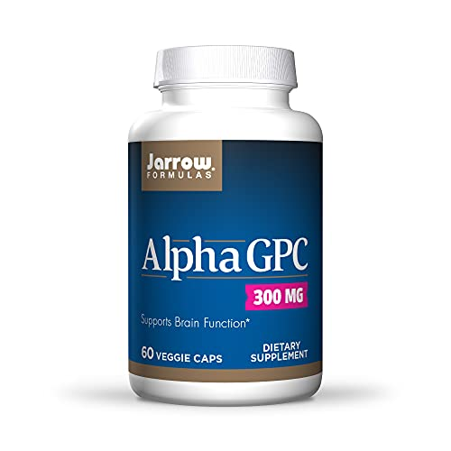 Jarrow Formulas Alpha GPC 300 mg, Supports Brain Function, White, 60 Count