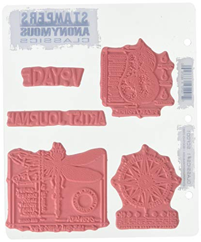 Stampers Anonymous Rubber Stamp Set, 7 by 8.5-Inch, Classics No.1 |