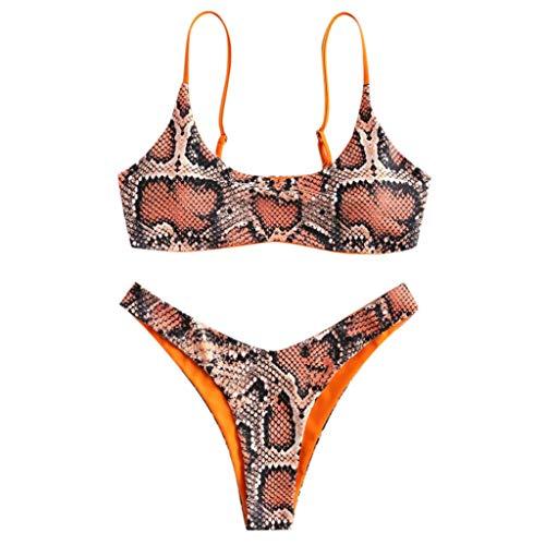 Holataa Bikini Mujer 2020 Cintura Altas Traje de Baño Mujer Dos Piezas Bikinis Mujer Tanga Serpiente Sexy Bañador Brasileños Mujer