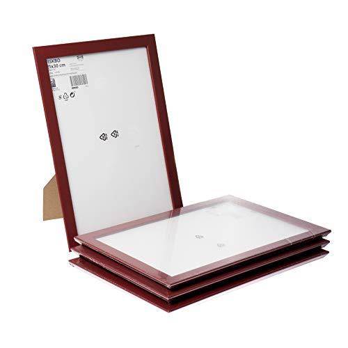 Ikea FISKBO - Marco de fotos (tamaño A4, 21 x 30 cm), color rojo oscuro