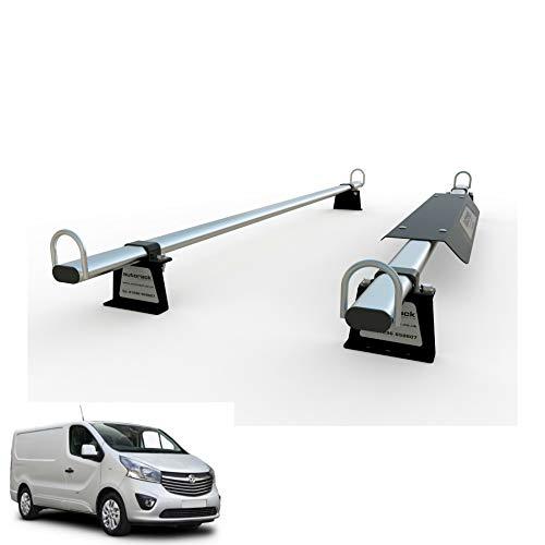 Opel Vivaro (2014-2019) MK2 AutoRack WorkReady Van Dachträger 2 Stangen – mit Aerofolie.