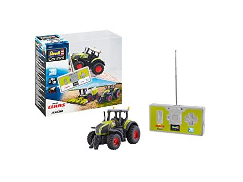 Revell Control 23488 Mini RC Traktor Claas Axion 960, mit Akku und 40 MHz Fernbedienung und Ladefunktion ferngesteuertes Auto, grün