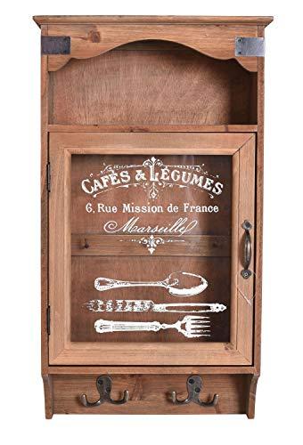 Hängevitrine Vintage Wandschrank Schlüsselschrank Hängeschrank Haken lof022 Palazzo Exklusiv