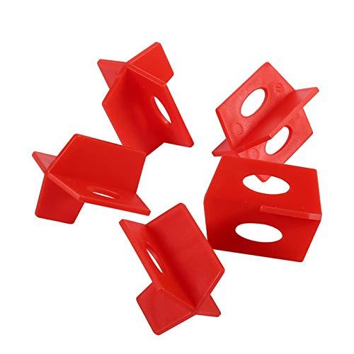 Germerse Nivelación de Azulejos, Sistema de nivelación de Azulejos Rojos, 50 Piezas en Forma de T para Herramientas de Pared de Piso en la instalación de Azulejos